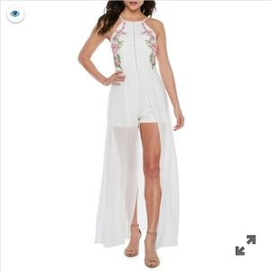 NWT Bridal/Bachelorette Flowy Romper/Maxi Dress!